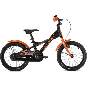 s'cool XXlite alloy 16 Børn, black/orange